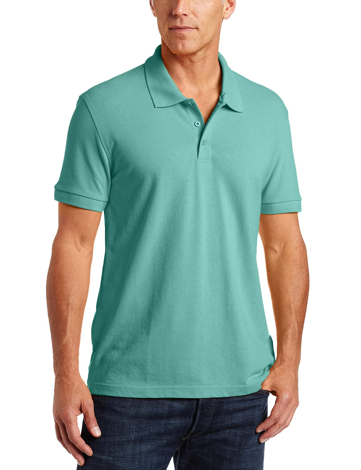 4XL Classroom School Uniforms Mens Big and Tall Adult Unisex Short Sleeve Pique Polo Teal