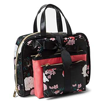 91debcdbe622 Adrienne Vittadini Cosmetic Bag Set: 3 Travel Makeup Toiletry Bags with  Zippered Closure -...