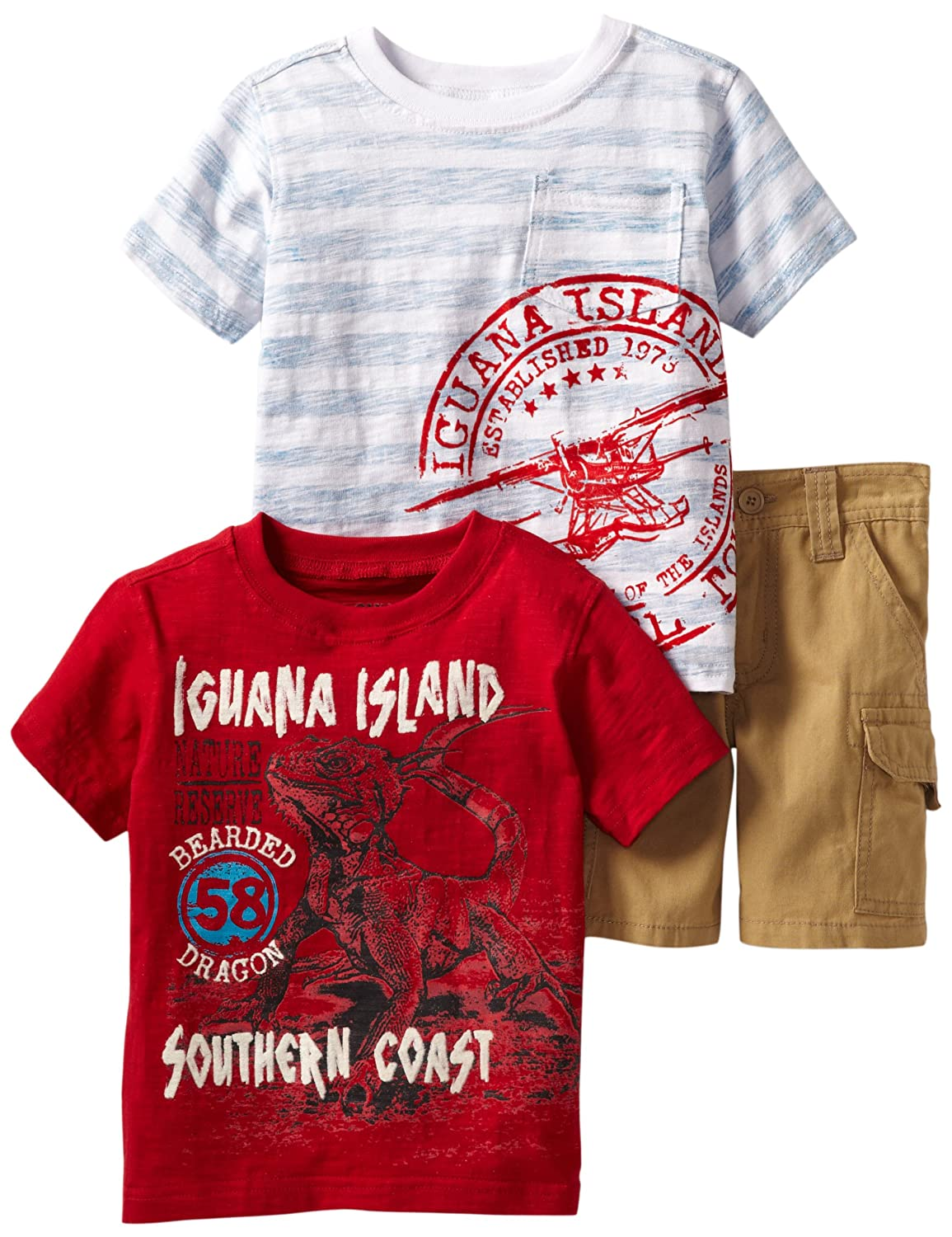 Nannette Little Boys 3 Piece Pullover 1 and 2 with Woven Short