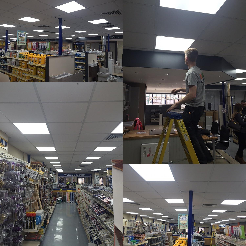LED lighting panel 600 x 600 40W recessed ceiling school office hotel etc LedHero Ltd