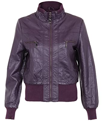 Fat Amy's Purple Leather Bomber Jacket - Pitch Perfect Costumes
