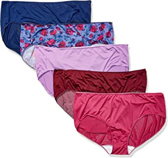 Just My Size Women's Smooth Stretch Microfiber Hipster Panty 5-Pack
