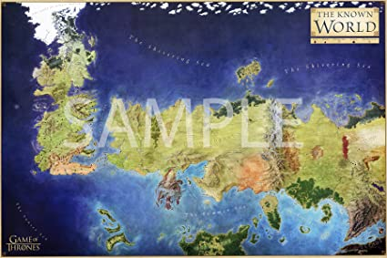 Best Print Store - Game of Thrones, Westeros, The Known World Map Poster on walking dead map poster, hobbit unexpected journey map poster, gravity falls map poster, game.of thrones s3 poster, supernatural map poster, life map poster, united states map poster, red dead redemption map poster, world of warcraft map poster, community map poster, silicon valley map poster, fallout new vegas map poster, skyrim map poster, dark souls map poster, grand theft auto v map poster,