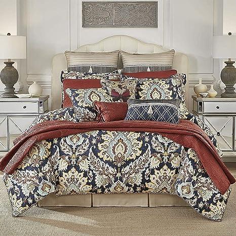 Amazon.com: K-U-P 4 Pc Multi, Beautiful Comforter Set King ...