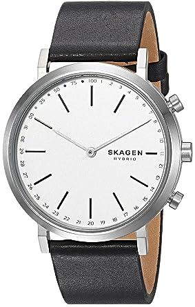 e70505dc1e666 Image Unavailable. Image not available for. Color  Skagen Women s Hald  Hybrid Smartwatch Black Leather SKT1205