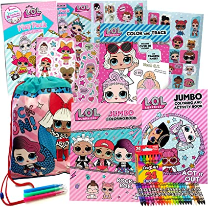 Amazon.com: LOL Surprise Activity Toy Set For Girls By ColorBoxCrate 7 Pack  Includes 3 LOL Surprise Dolls Coloring Books, LOL Surprise Dolls Toys, 70 LOL  Dolls Stickers, Play Pack, Crayons And More,