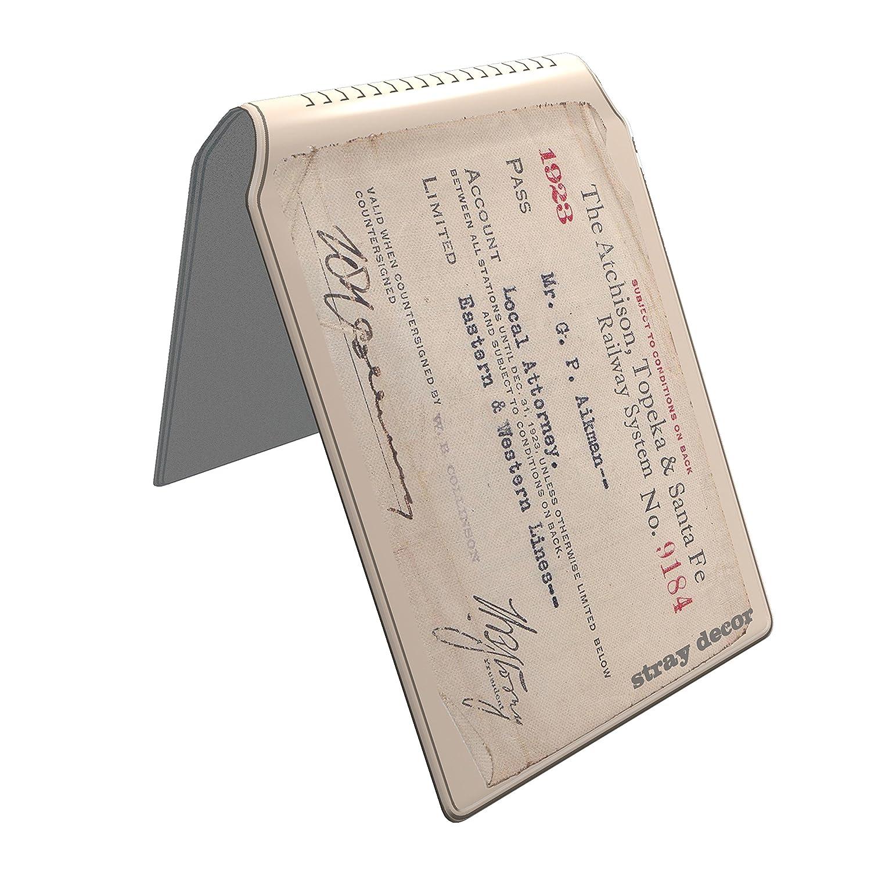 Stray Decor (Vintage Train Ticket) Buspass Fahrkartenhalter im Brieftaschenformat, IsarCard, fahrCard, RMV Clevercard, Kolibricard oder Karteninhaber auf Reisen SD-0138