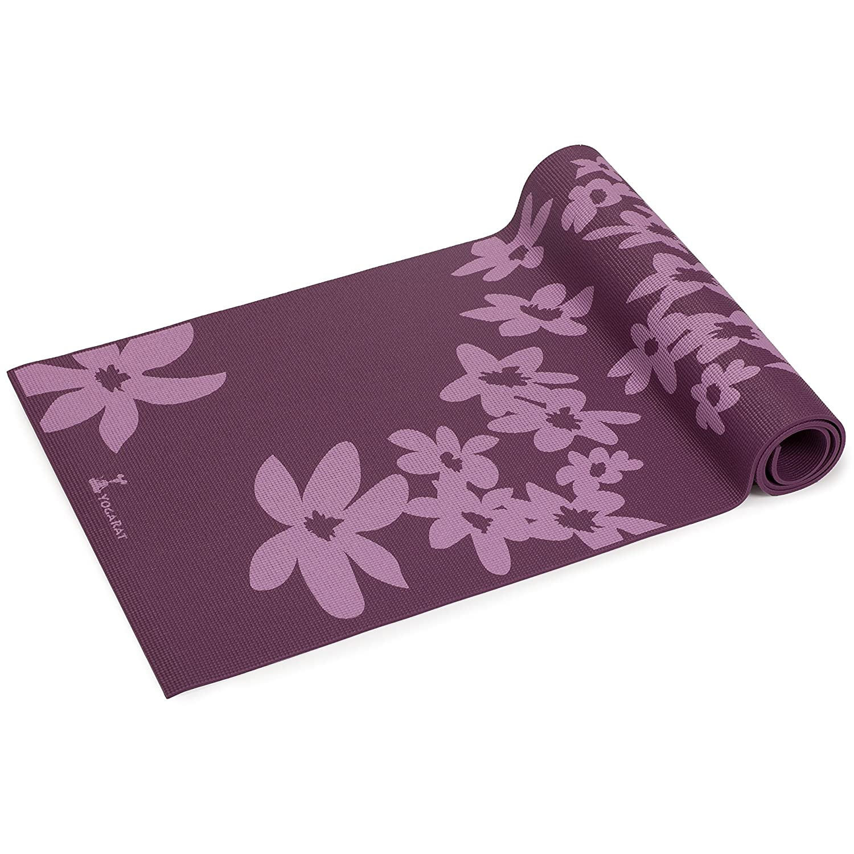 YogaRat Estera no tóxica Falling flor estera - violeta ...