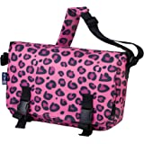 Messenger Bag, Wildkin 15 x 10 Inch Messenger Bag, Includes Interior and Exterior Pockets and Buckled Straps to Close, Ages 8+, Perfect for School, Sports, and Day Trips – Pink Leopard