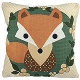 Luxbon Lovely Fox Cushion Covers 18x18 Animal Sofa Throw Pillowcase 45x45cm Cotton Linen Cushion Case Covers Home Decors Kids Gifts