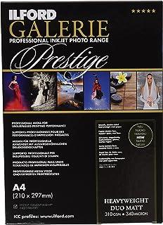 Pack 50 Hojas de Papel Ilford Galerie Prestige Gold Fibre Silk 13x18 cm Color Blanco