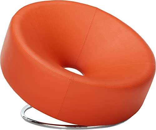 Christopher Knight Home Nouvelle Modern Design Orange Leather Lounge Chair