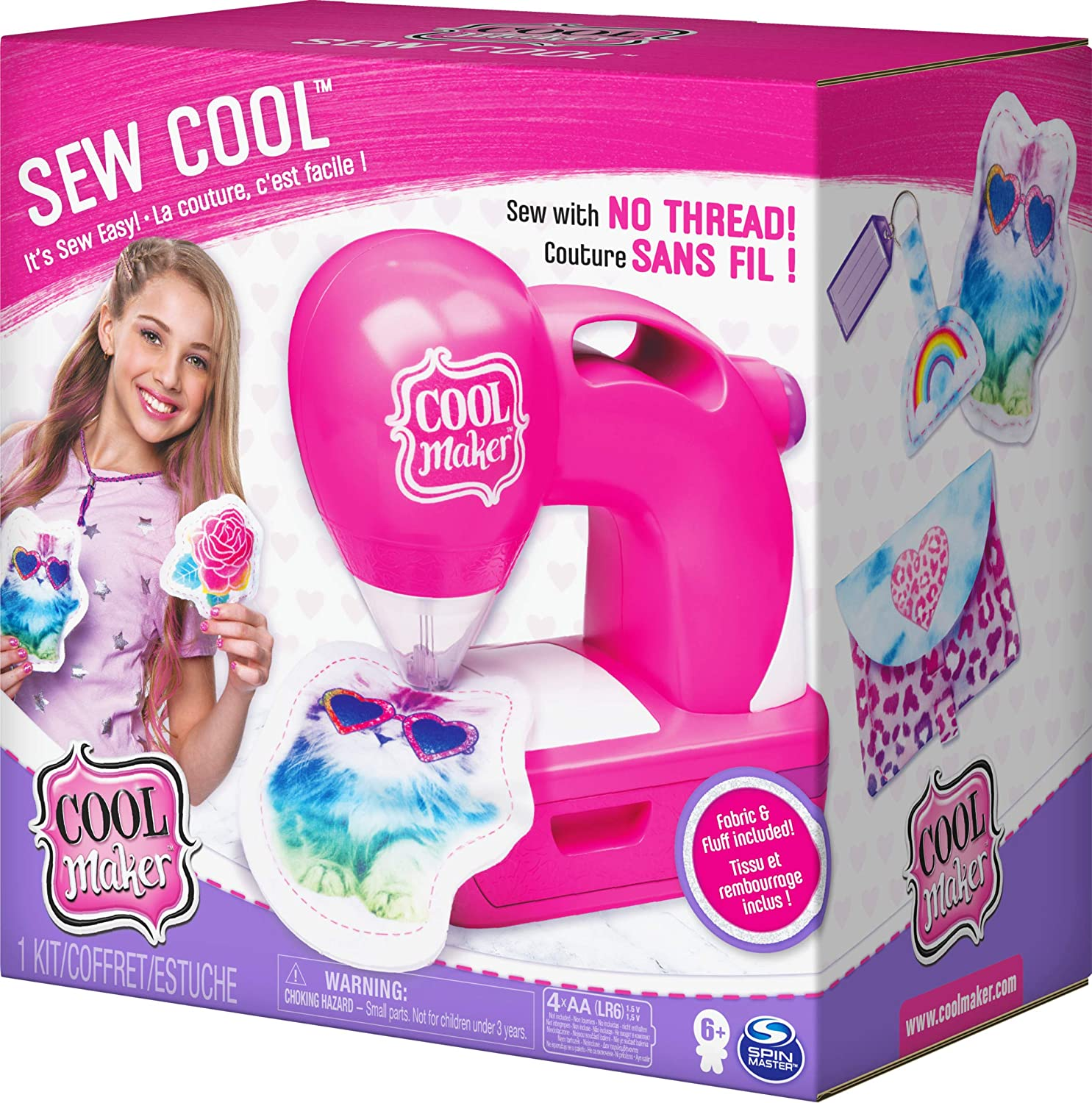 for Kids 6 Aged and up Cool Maker Sew Cool Sewing Machine with 5 Trendy Projects and Fabric