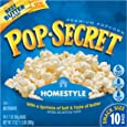 Pop Secret Microwavable Popcorn, Snack Size Homestyle, 10-Count Boxes (Pack of 3)