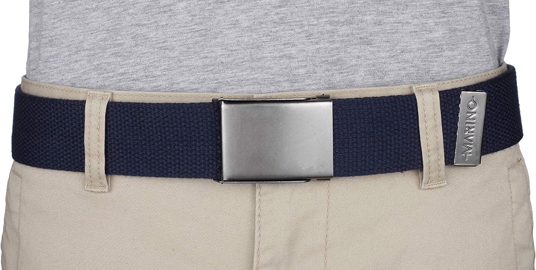 3 pack Bottle Opener Steel Buckle Marinos Nylon Canvas Web Belt Military Style