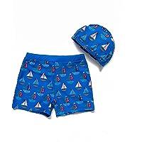 BONVERANO Bañador para niño con protección UV 50+ y gorro de natación