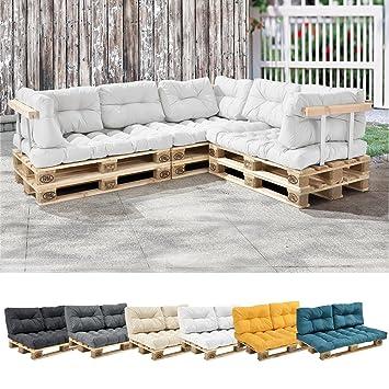 en.casa] 1x Sitzkissen für Euro-Paletten-Sofa [weiß] Palettenkissen ...