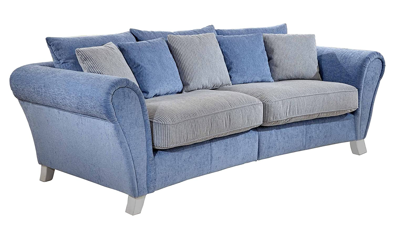 Cavadore Big Sofa und Hocker Calianne / XXL-Couch mit passendem ...