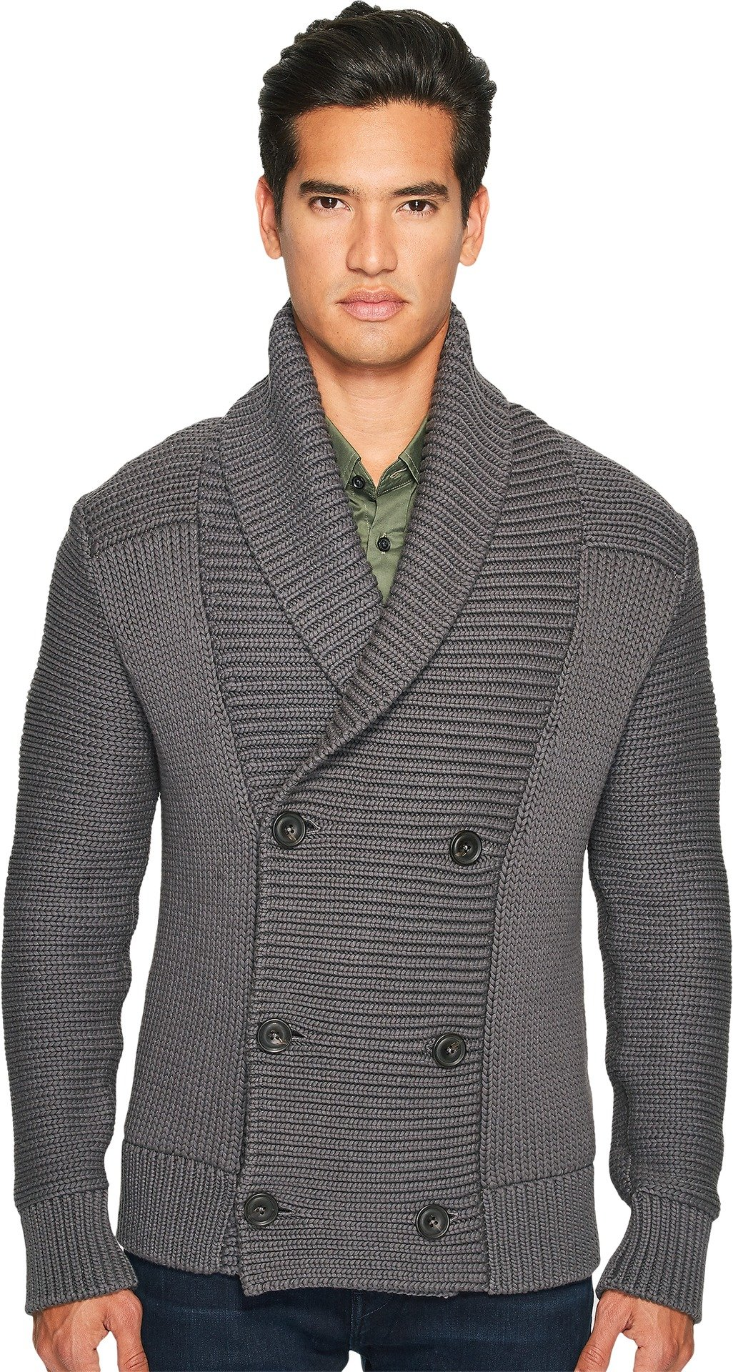 Vince Men's Solid Double Breasted Cardigan, Sulphur, Large