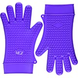 MGE Chef - Cooking Gloves Heat Resistant - Silicone High Quality - Size XL - 1 Pair - Purple