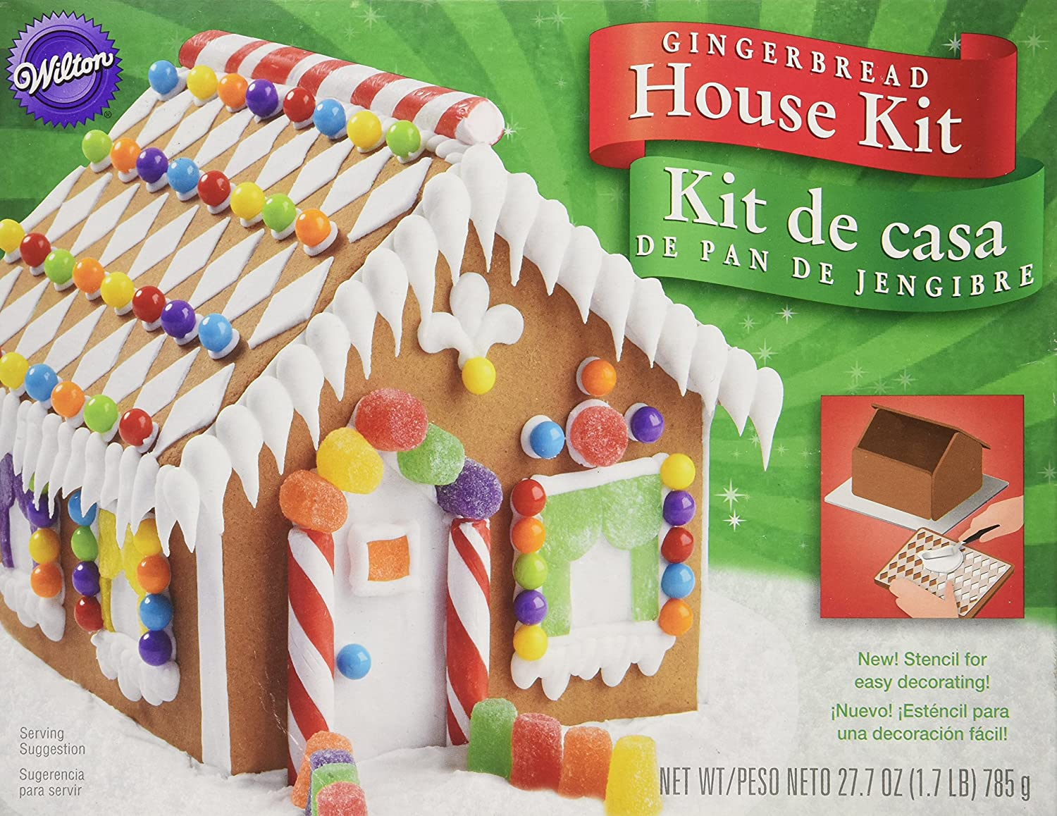 Amazon.com : Wilton 2104-1914 Pre-Baked Gingerbread House Kit ...