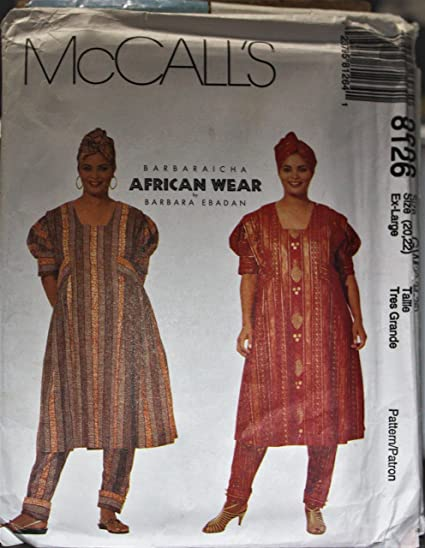 Amazon 60 McCalls Sewing Pattern UNCUT Misses Barbaraicha Delectable African Dress Patterns For Sewing