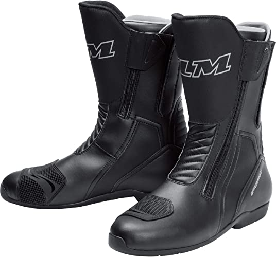 Flm Motorradschuhe Motorradschnürstiefel Lang Touring Stiefel Wasserdicht 5 0 Lang Herren Tourer Ganzjährig Microfiber Synthetik Schuhe Handtaschen