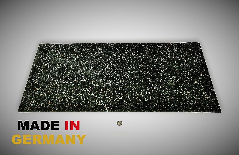 Bautenschutzmatte Gummigranulatmatte Kofferraummatte Bodenschutzmatte Bodenbelag Gummi Gummimatte Anti-Vibrationsmatte Antirutschmatte 350 x 60 x 1 cm lfd. Gummimatte Meterware schwarz