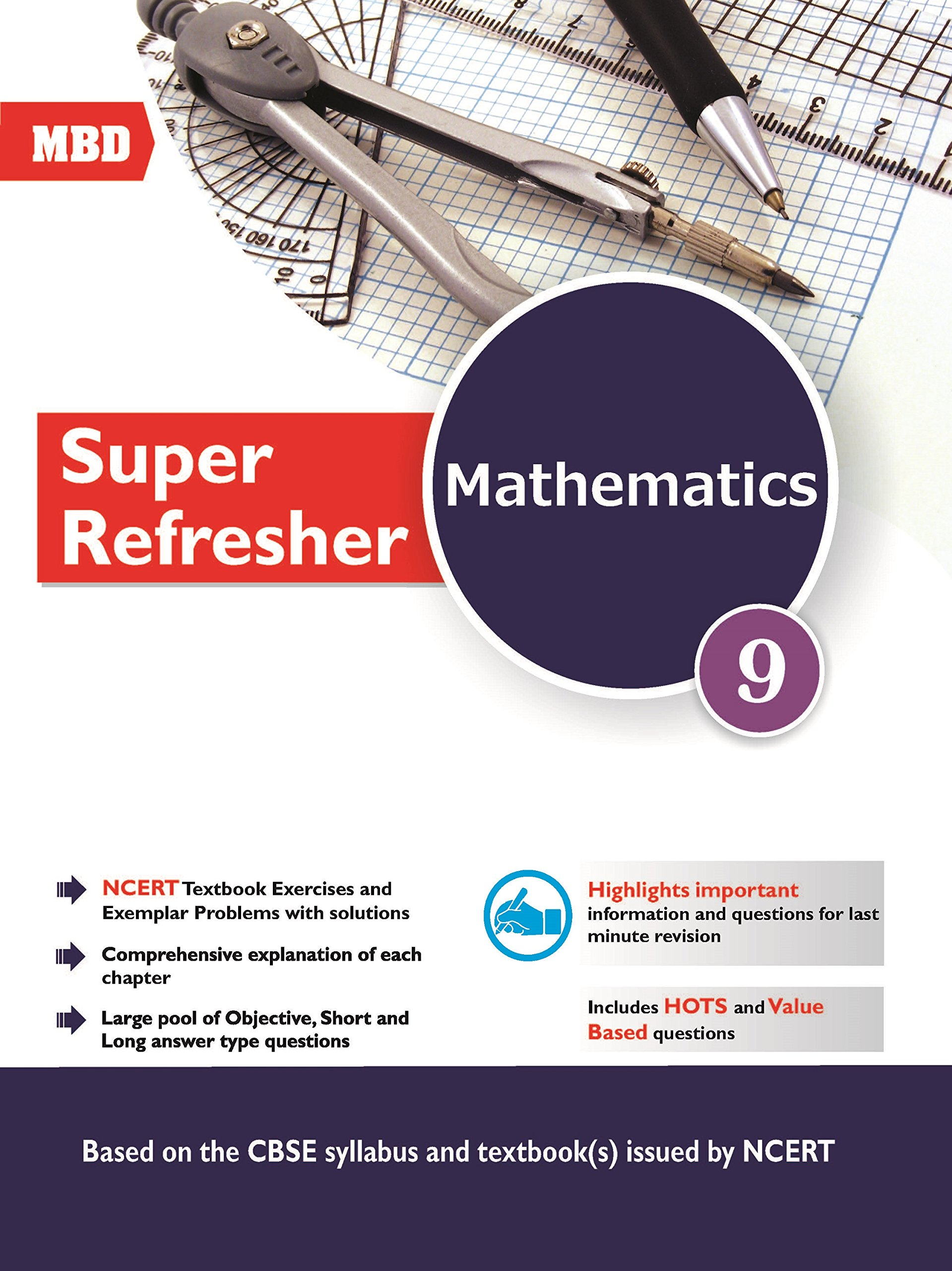 MBD Math Super Refresher Class- 9 (Class - 9): Amazon.in: V.K. ...