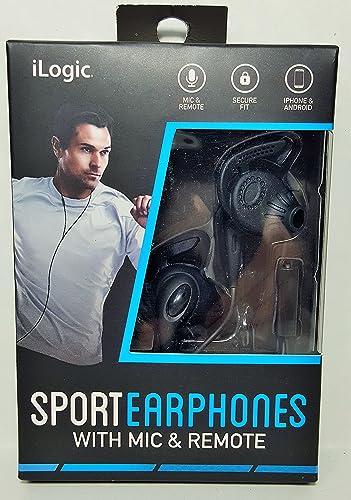 iLogic Sport Earphones With Mic Remote Black
