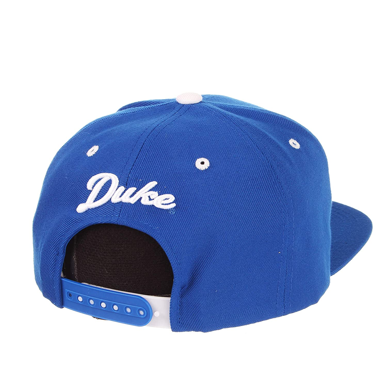Amazon.com   ZHATS Duke Blue Devils Royal Blue Z11 Adjustable Snapback Cap  - NCAA Flat Bill 6-Panel Baseball Hat   Sports   Outdoors 45c2db5783cc