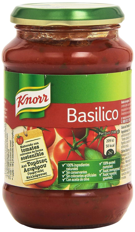 Knorr - Basilico - Salsa de tomate con albahaca - 400 g: Amazon.es: Alimentación y bebidas