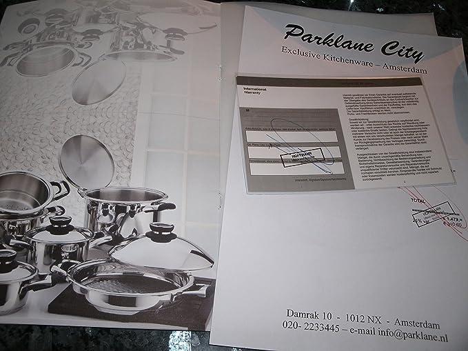 Set de cocina 12 Piezas Swiss AMC Tortilla sartenes cacerola garantía Retail 1139,=GBP saladmaster Waterless Master cocción All-Clad: Amazon.es: Hogar