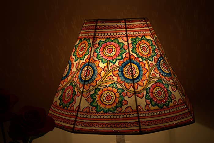 Amazon Com Hand Painted Floral Lamp Shade Table Lamp Floor Lamp