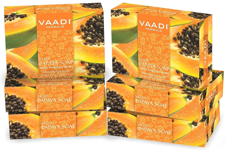 Value Pack of 3 Natural Fresh Papaya Soap (75 gms x 3) Anti ...