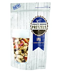 Boardwalk Food Company IPA Flavored Craft Beer Pretzels   Party Snacks   8 oz. Bags   1 Pack