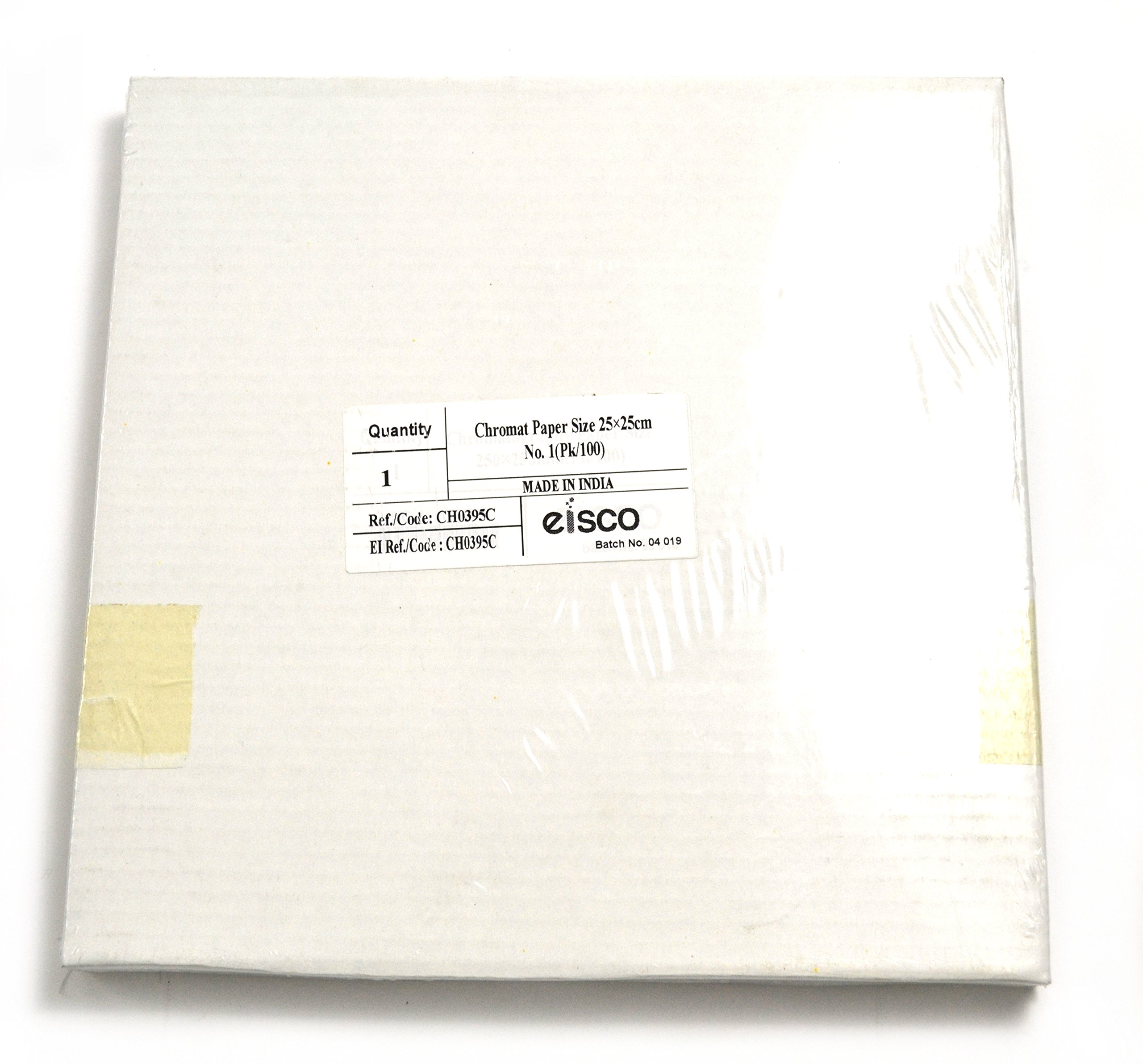 Eisco Labs Chromatography Filter Paper Sheet 25cm x 25cm (9.84'' x 9.84'') Pack of 100 by EISCO