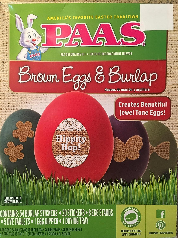 PAAS brown eggs and burlap decorating kit