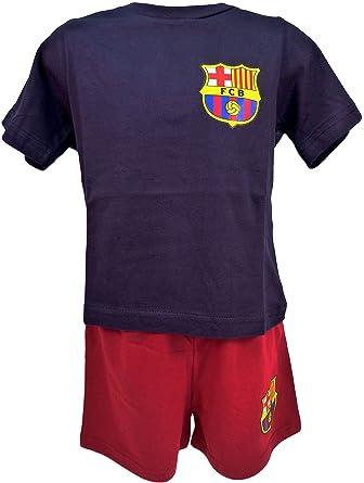 76d934eae3d FC Barcelona Official Football Boys Short Pyjamas Age 3-4 Years:  Amazon.co.uk: Clothing