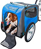 Schwinn Rascal Bike Pet Trailer, For Small and Large Dogs, Folding Frame Carrier, Quick Release Wheels, Universal…