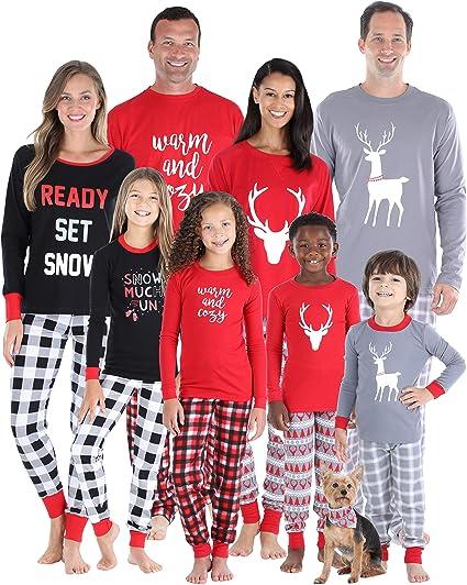 Blingko Weihnachten Pyjama Familien S/äUglingsbaby Plaidspielanzug Familienpyjamas Sleepwear Zusammenpassendes Weihnachtstuch Baby Weihnachtslange H/ülsen Karikatur Plaid Elternschafts Hauptpyjamas