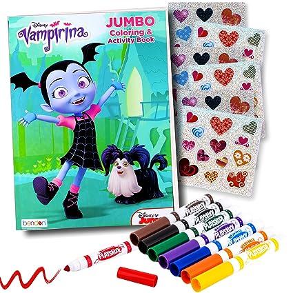 Amazon Com Disney Studios Vampirina Coloring Book Super Set With