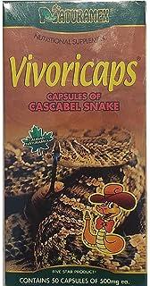Vibora de Cascabel 50 Capsules 500 mg ea. Cascabel Snake, Rattlesnake Powder, Dietary