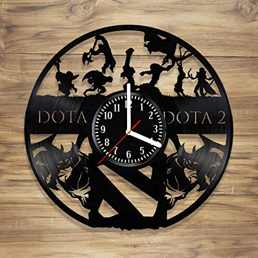 Amazon Com Dota 2 Vinyl Wall Clock Dota Video Game Battle Arena