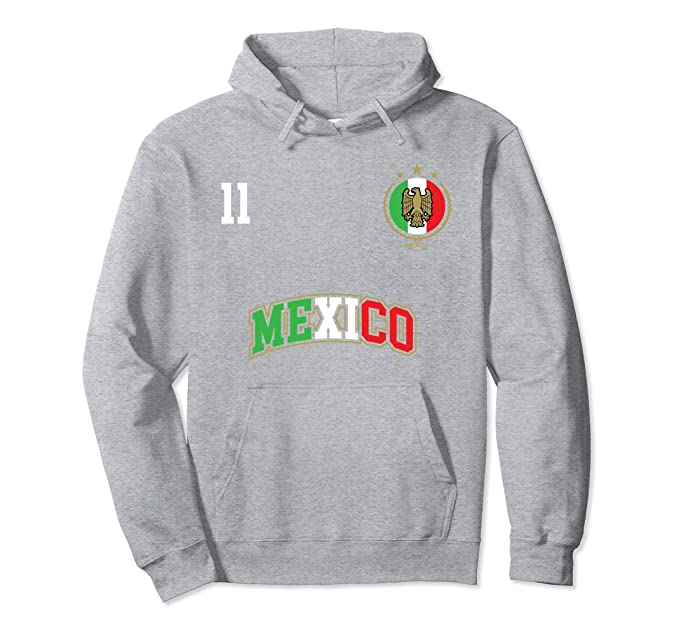 Amazon.com: Mexico Soccer Team Hoodie Number 11 Sport Mexican Flag Shirt: Clothing