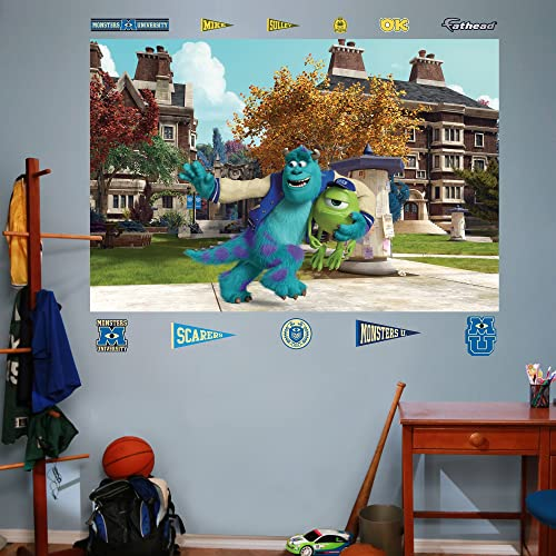 FATHEAD Monsters University Mike and Sulley Campus Mural