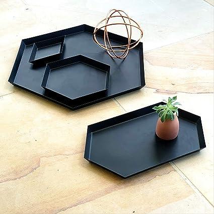 Amazon Com Serving Trays Coffee Table Bathroom Decor Set Of 4