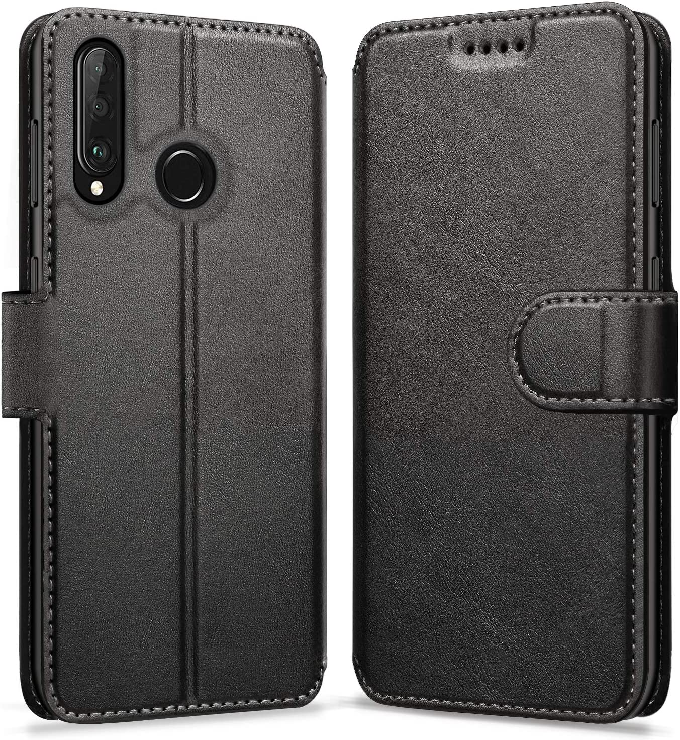 ykooe Case Compatible with Huawei P30 Lite, Leather Wallet Flip Case Huawei P30 Lite Phone Case with Card Slots Protective Cover for Huawei P30 Lite
