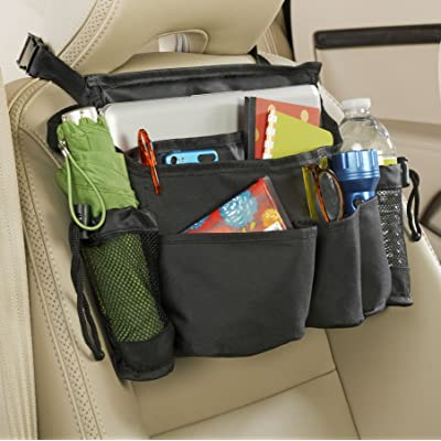 High Road Front Seat Organizer with SwingAway Handles (Black): Automotive