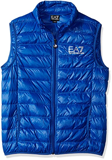 66f57f0ec8f46b EA7 by Emporio Armani 8NPQ01 Ultra-Light Down Racing Red Gillet   Amazon.co.uk  Clothing